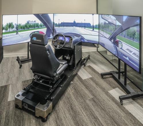 Highly Immersive Static Simulator For Virtual Vehicle Testing